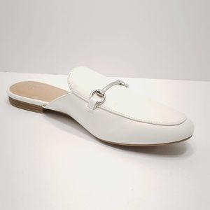 A New Day White Backless Slip On Mules